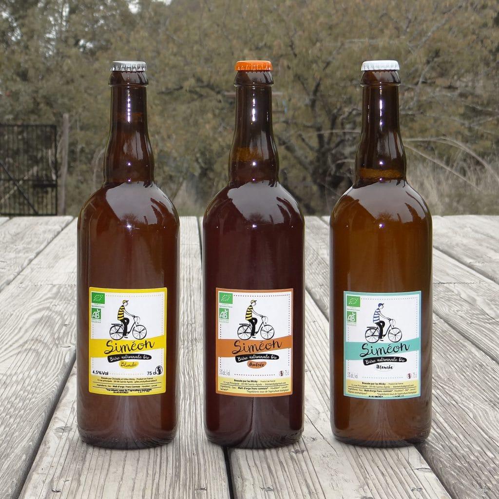Siméon, bière blonde, ambrée et blanche