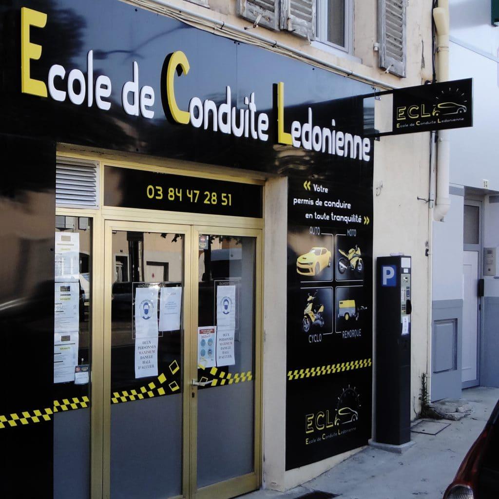 ecole de conduite lédonienne ECL enseigne