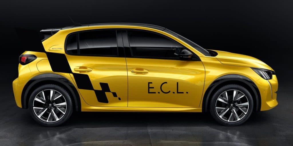 208 jaune école de conduite lédonienne ECL