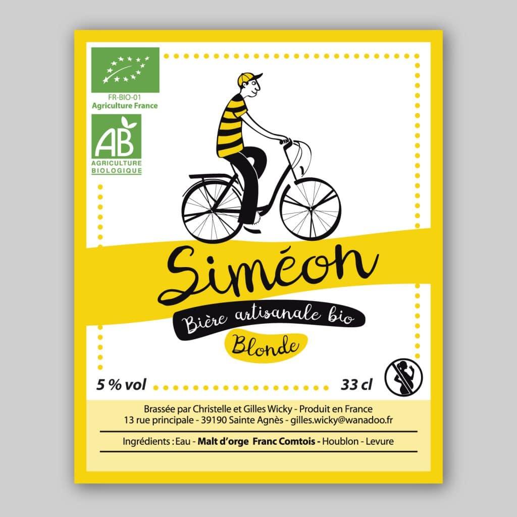 étiquette de la bière artisanale BIO Siméon