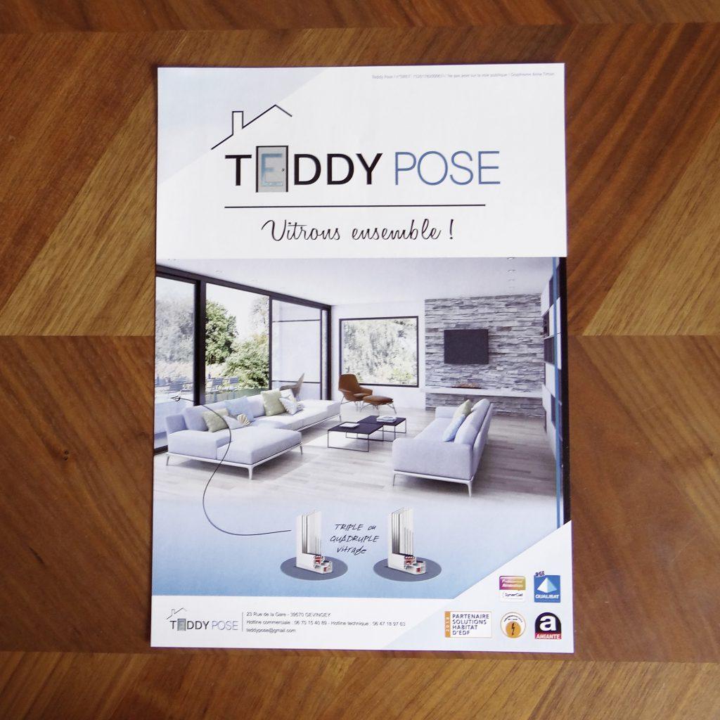 Flyer vitres Teddy Pose