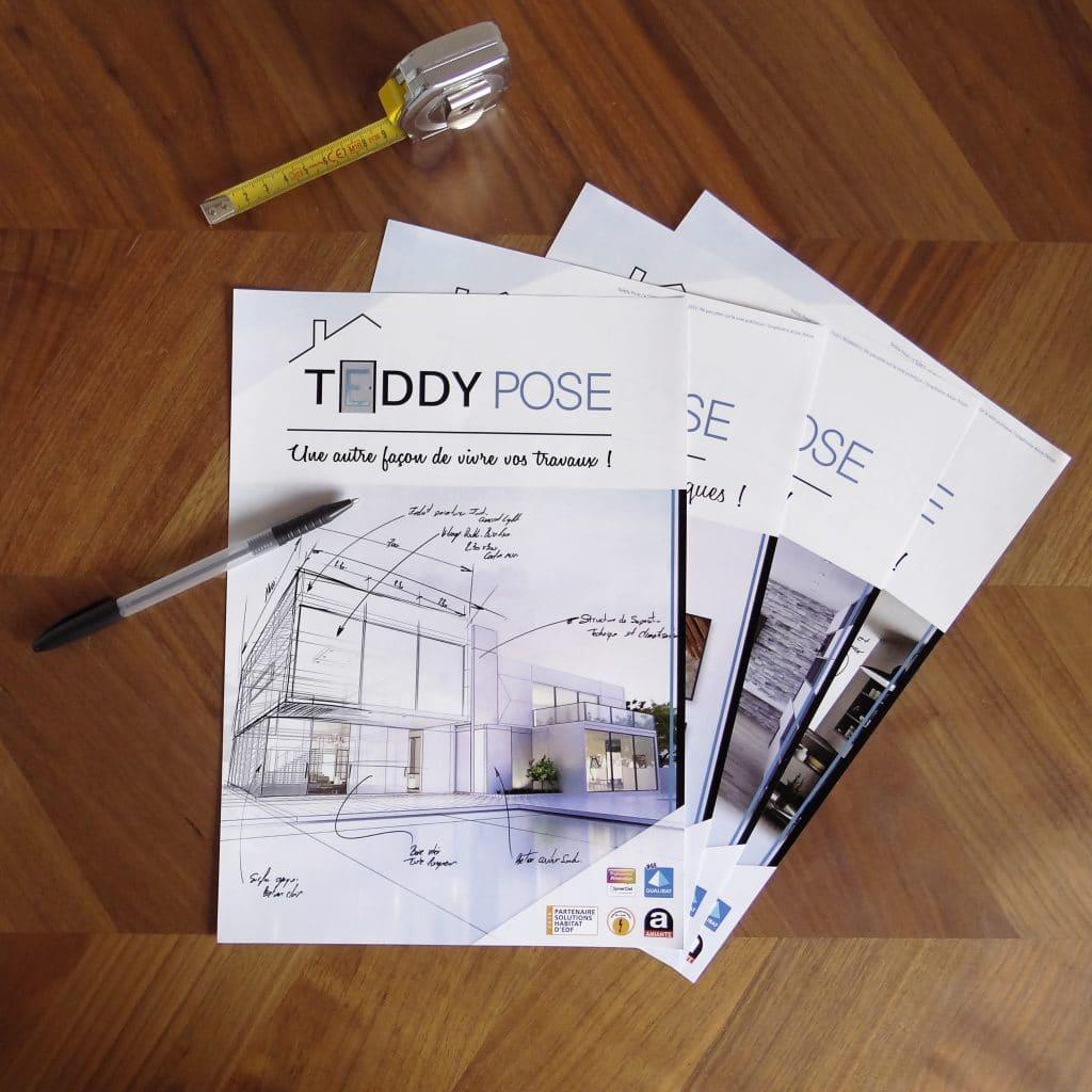 Teddy Pose réalisation 4 flyers
